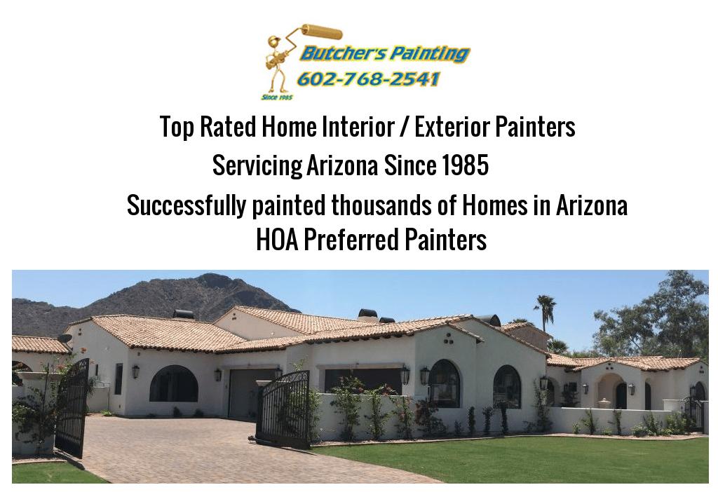 Gilbert, AZ HOA Painting Company - Butcher's Painting