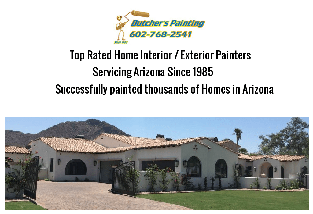 North Phoenix, AZ Exterior House Painting Company - Butcher's Painting