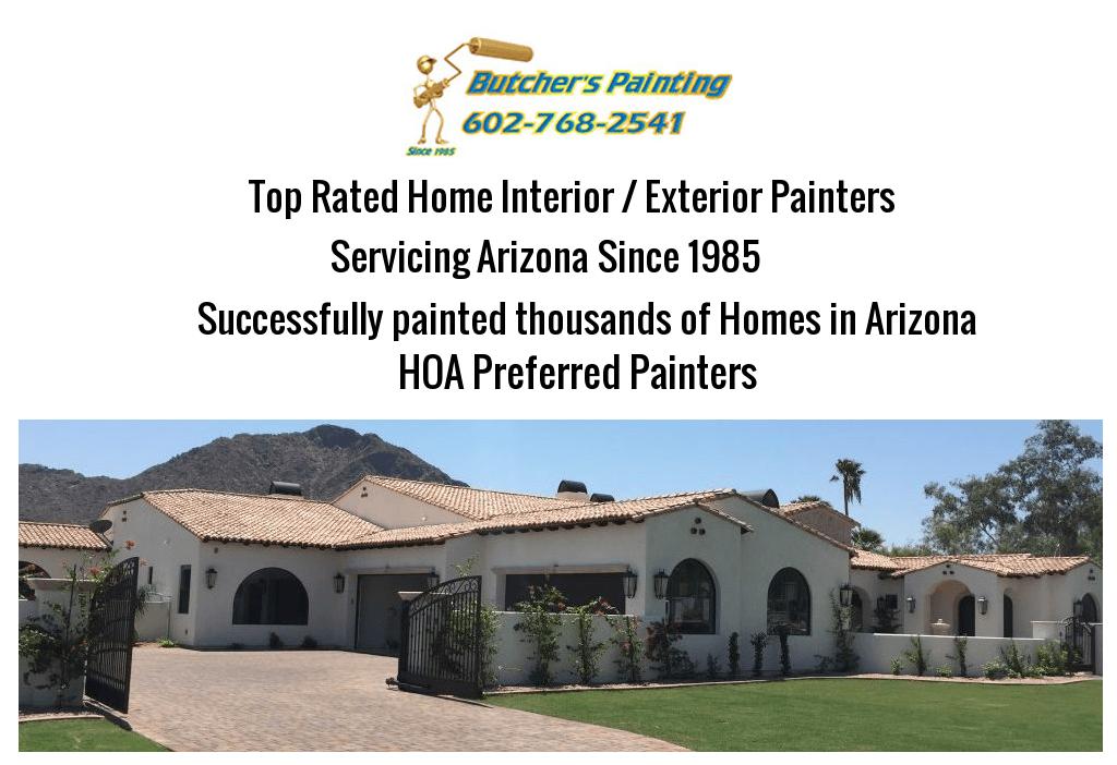 Prescott, AZ HOA Painting Company - Butcher's Painting